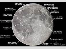 Map Of The Moon Royalty Free Stock Images Image 11308449
