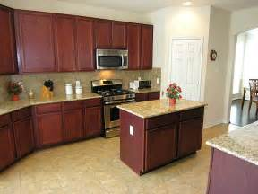 kitchen island cherry wood simple and neat u shape kitchen ideas using cherry wood kitchen cabinet along with small