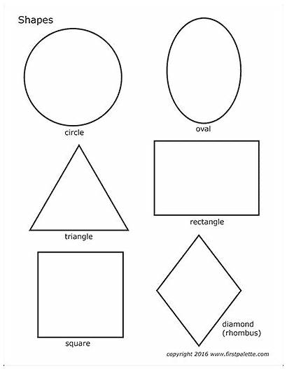 Shapes Printable Basic Templates Coloring Pages Shape