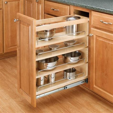 base cabinet pull out shelves rev a shelf 3 tier pull out base organizer 5 quot wood 448 bc