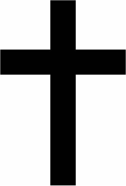 Silhouette Christian Cross Clipart Getdrawings