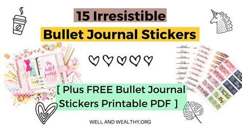 irresistible bullet journal stickers
