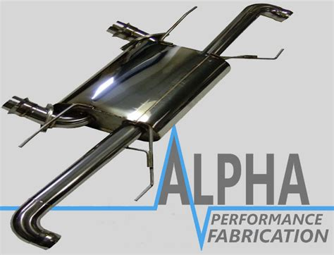 aston martin rapide exhaust rear  pipe section