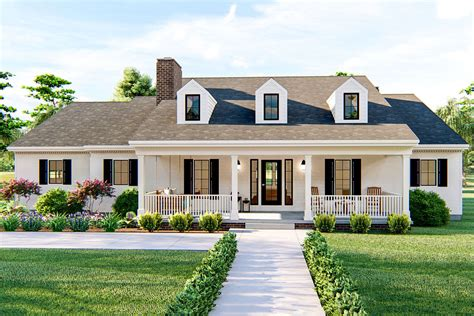 story country home plan  vaulted great room  master bedroom dj architectural