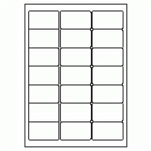 Product Line Sheet Template 355 Label Size 63 5mm X 38 1mm 21 Labels Per Sheet
