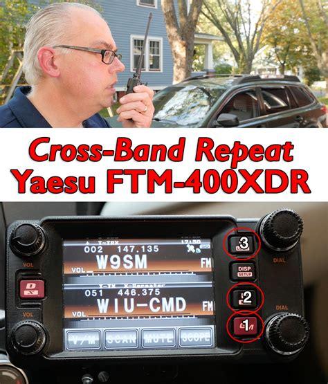 cross band repeat with the yaesu 400xdr kb9vbr j pole antennas