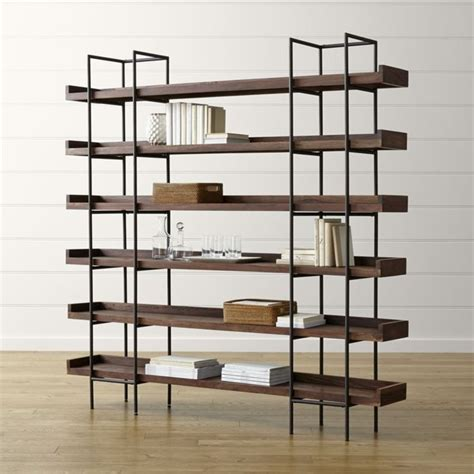 iron and wood bookcase industrial style wood and iron bookcase beckett 6 high