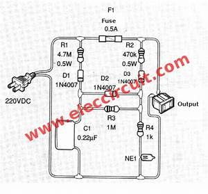 Simple Blown Fuse Alarm Circuit For Ac Line