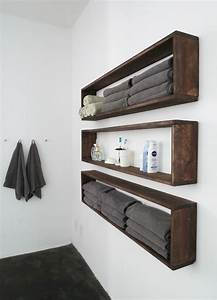 Diy bathroom shelves to increase your storage space for Shelves for bathroom walls