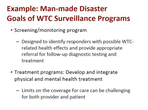 advances   screening  treatment  wtc responders