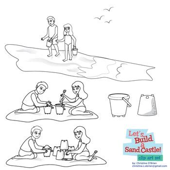 lets build  sand castle beach clip art  christine