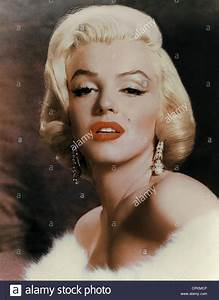 A color portrait of the film star Marilyn Monroe, pictured ...