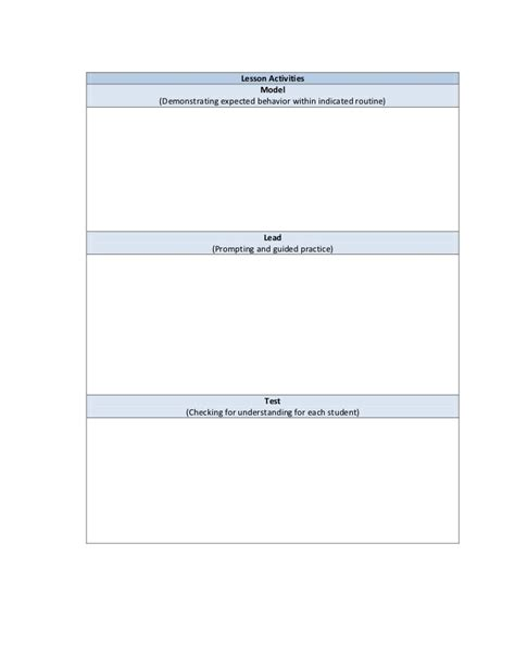 Social Skills Lesson Plan Template by Getting Started Appendices May 14 2010