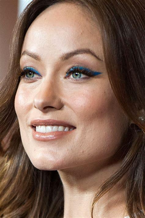 inspired  olivia wildes bold blue cat eyes