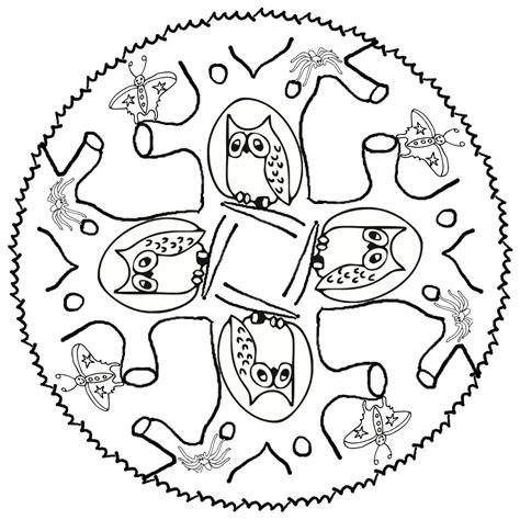 mandala tiere ausmalbilder tiere eule spinne krabbe maus