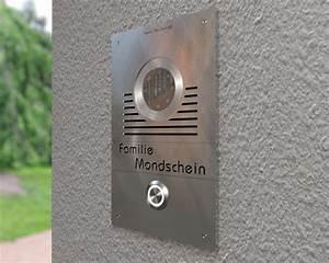 Edelstahl Video Türsprechanlage : design video t rsprechanlage mit austauschbaren schriftfeld t erklingeln ~ Sanjose-hotels-ca.com Haus und Dekorationen