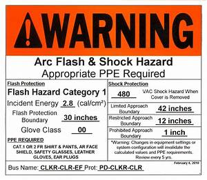 Distance yourself contest winner how to read an arc flash for How to read arc flash labels