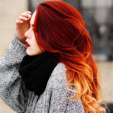 stunning red ombre hair  gorgeous  fiery hair