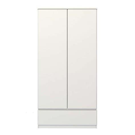Garde Robe Blanc by Garde Robe Naia 2 Portes Laqu 233 Blanc 50x99x201 Cm