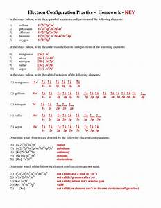 Exercise Electron Configurations Worksheet Electron