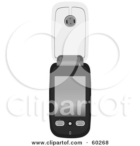 flip phone clipart black and white royalty free rf clipart illustration of a black gray