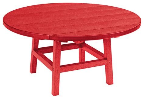 outdoor cocktail table round 37 quot round cocktail table with legs red contemporary