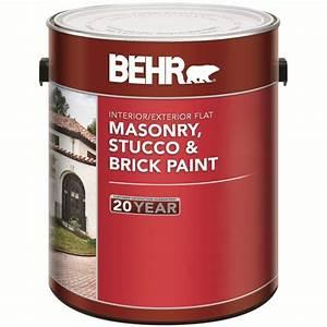 behr peinture pour maconnerie stuc brique fini mat With peinture pour brique interieur