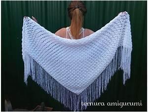 Triangular Shawl Crochet Pattern Shalws Pdf English