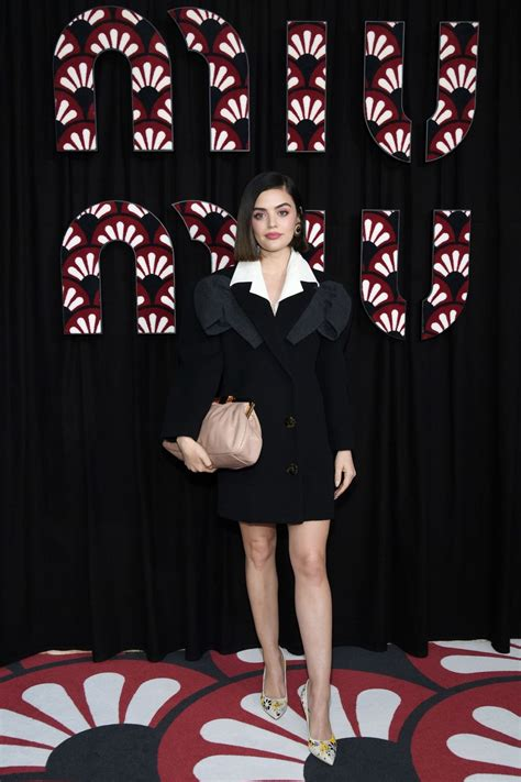 Lucy Hale Attends the Miu Miu show as part of the Paris ...