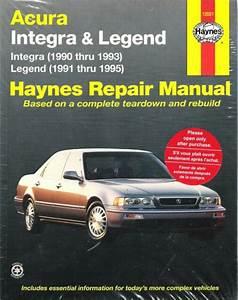 Haynes Repair Manual 12021 Acura Integra 1990