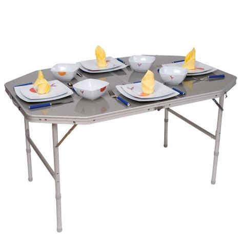 table de cing alu pliante 120x80cm accessoires equipement pour cing car
