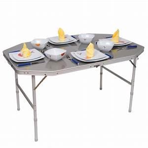 Table Pliante De Camping : table de camping alu pliante 120x80cm accessoires equipement pour camping car ~ Melissatoandfro.com Idées de Décoration