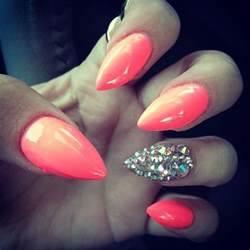 Stylish stiletto nails i love the color but sharp