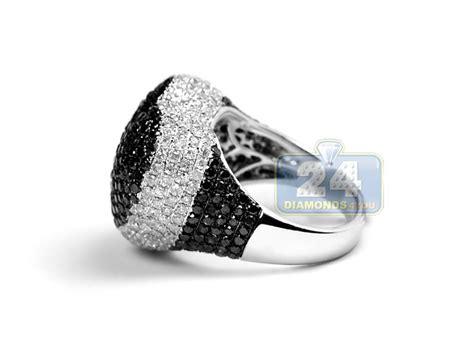 womens black white diamond heart shape ring  gold  ct
