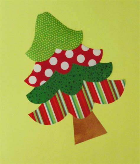 fabric applique template pattern only four tier christmas