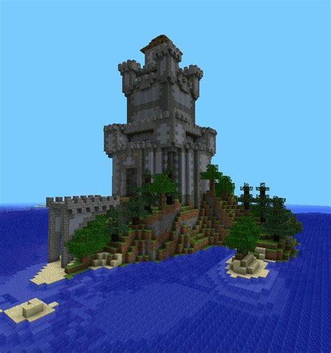 island  minecraft architecture minecraft construction minecraft blueprints