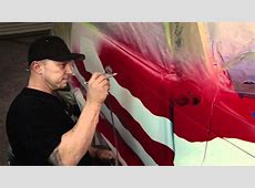 How to Airbrush an American Flag on a vehicle w Ryno Doovi
