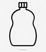 Bottle Coloring Glass Detergent Clipart Pinclipart sketch template