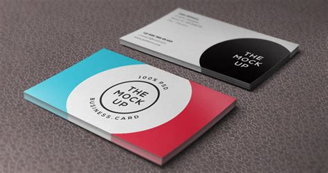 Psd Business Card Mock-up Vol9