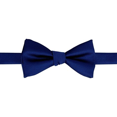 royal blue solid check  tie bow tie