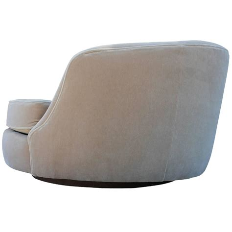 magnificent milo baughman circle swivel lounge chair in