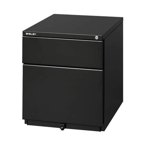 caisson de bureau noir caisson mobile a4 2 tiroirs noir achat vente caisson