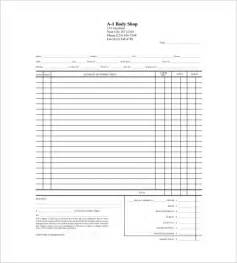 Auto Repair Cost Estimate Free by Blank Estimate Template 23 Free Word Pdf Excel