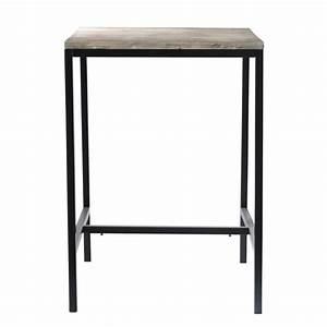 Table Haute Maison Du Monde : table de salle manger haute indus en bois massif et ~ Farleysfitness.com Idées de Décoration