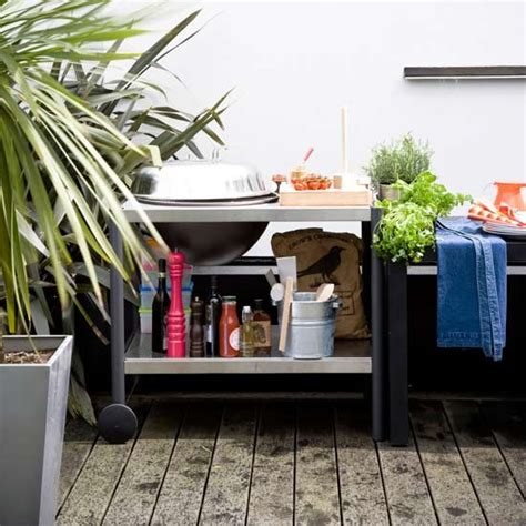 outdoor cooking area ideas urban cooking area with outdoor storage urban garden ideas housetohome co uk