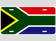 SOUTH AFRICA FLAG LICENSE PLATE