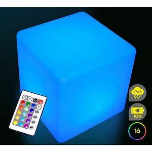 cube lumineux led exterieur 60 cm sans fil achat vente With cube lumineux solaire exterieur