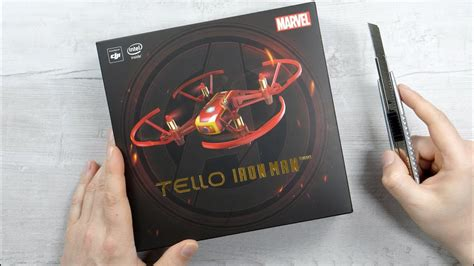 dji tello iron man edition unboxing flight  footage marvel avengers youtube