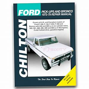 Chilton Repair Manual For 1975-1979 Ford F-150
