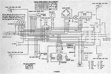 honda ct90 motorcycle wiring diagram all about wiring diagrams